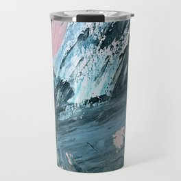 Wilmington: a colorful abstract acrylic piece in pinks and blues Travel Mug