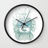 melbourne Wall Clocks featuring Melbourne by Raul Garderes
