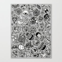 heaps of heads Canvas Print