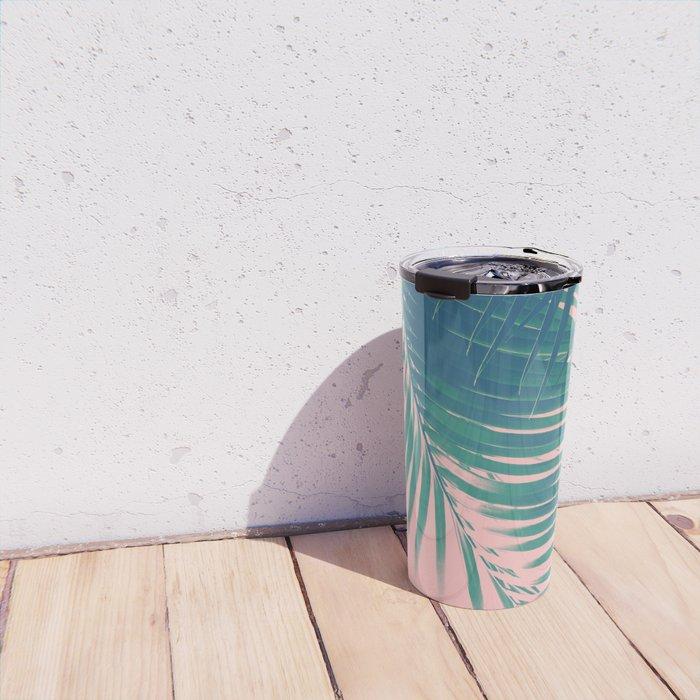 Palm Leaves Blush Summer Vibes #2 #tropical #decor #art #society6 Travel Mug