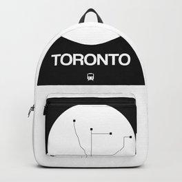 Toronto White Subway Map Backpack