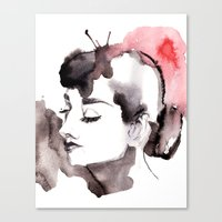 audrey Canvas Prints featuring Audrey by Michelle Pegrume