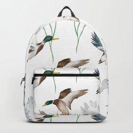 Cute ducks art ,Goose,geese,Birds illustration,pattern  Backpack