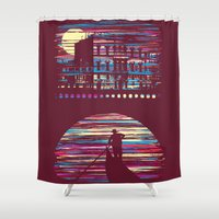 venice Shower Curtains featuring Venice by daletheskater