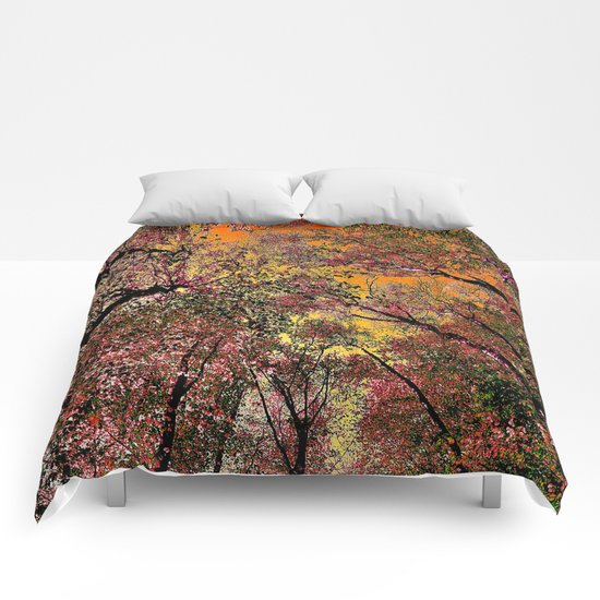 Colored forest Comforters