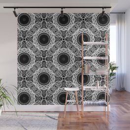 Black and white ornament . Wall Mural
