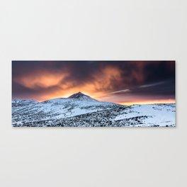 Golden hour sunset in Teide National Pak Canvas Print