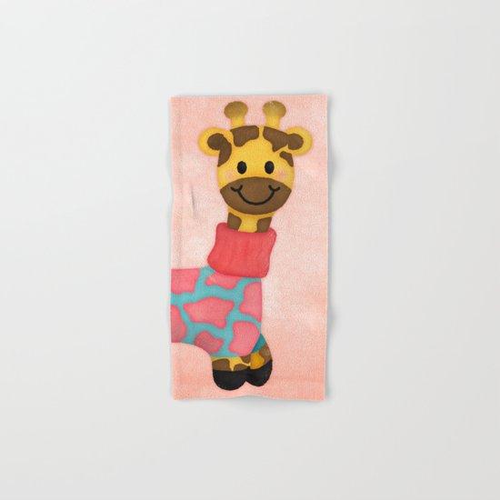 Cutie Patootie Giraffe Hand & Bath Towel