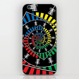 Spinning Disc Golf Baskets iPhone Skin