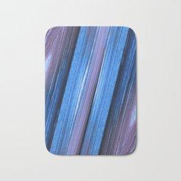 Amethyst Blue Geode Abstract Bath Mat
