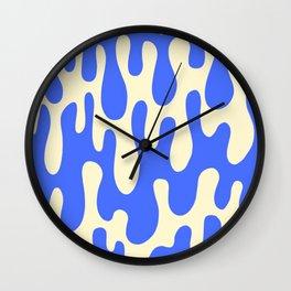 Geometric Drips Wall Clock