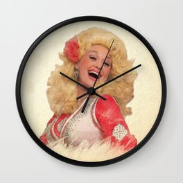 Dolly Parton - Watercolor Wall Clock