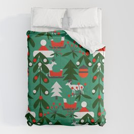 Christmas evergreens Comforters