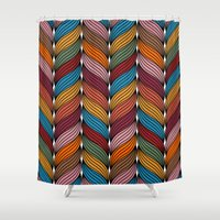 hipster Shower Curtains featuring Hipster by Rceeh