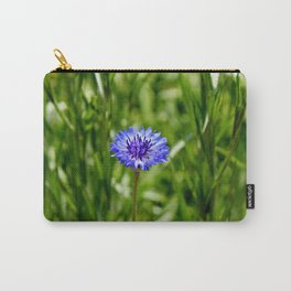 Blue Cornflower Carry-All Pouch