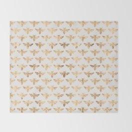 Honey Bees (Sand) Throw Blanket