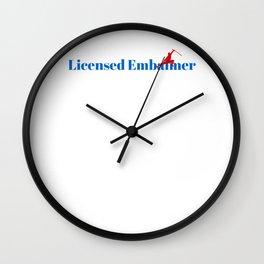 Licensed Embalmer Ninja in Action Wall Clock