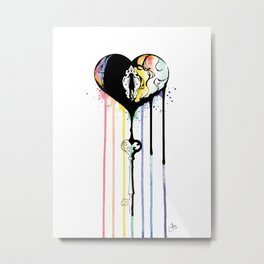 Rainbow Heartbleed Metal Print