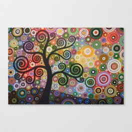 Abstract Art Landscape Original Painting ... Tree of Wishes Canvas Print