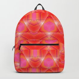 Candy Corn Inspired Pink & Orange Abstract Backpack