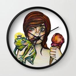 Princess Frog Wall Clock