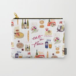 Paris Food Map Carry-All Pouch