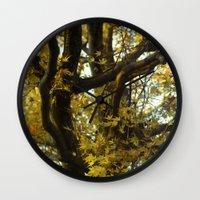 fibonacci Wall Clocks featuring Fibonacci by Monica Ortel ❖