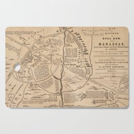 Vintage Map of The Battle of Bull Run (1861) Cutting Board
