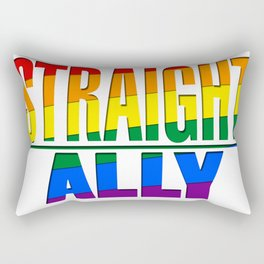 Straight Ally Rectangular Pillow