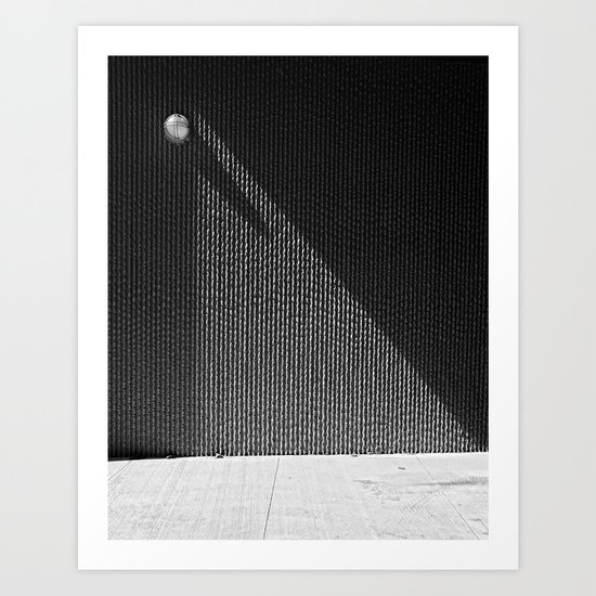 Circle triangle lines Art Print
