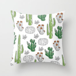 Cacti or Cactuses? Throw Pillow