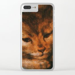 Cat in the art -Sellaer- Jupiter as a Satyr with Antiope and their Twins - detail Clear iPhone Case
