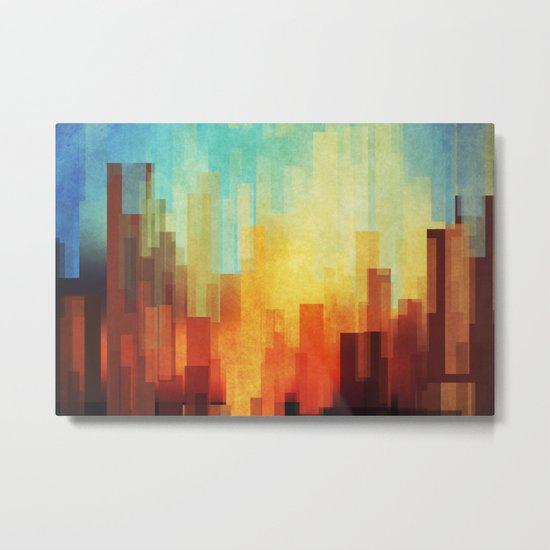 Urban sunset Metal Print