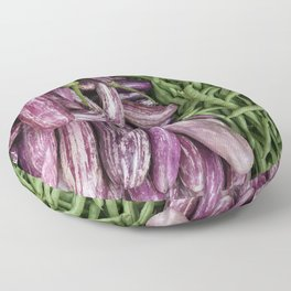 Eggplant and Beans Vegetable Floor Pillow