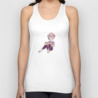 bookworm Tank Tops featuring Bookworm by Ale Martin