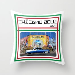 Chicano Soul Volume 4 Throw Pillow