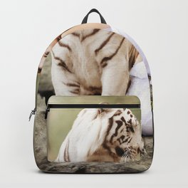 White Tiger from Bengal | Tigre blanc du Bengale Backpack