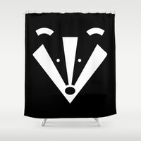 badger Shower Curtains featuring Brock badger by Pygmy Creative