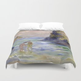 Moulin Huet Bay, Guernsey by Pierre-Auguste Renoir Duvet Cover
