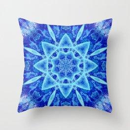 Ice Matrix Mandala Throw Pillow