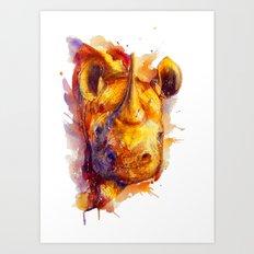 Baby Rhino Art Print