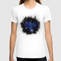 shield T-shirts featuring Avengers - SHIELD by Trey Crim