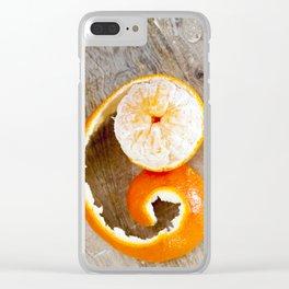 juicy orange mandarin Clear iPhone Case