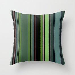 Stripes - Tropical Green Vines Throw Pillow