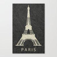 paris Canvas Prints featuring Paris by NJ-Illustrations