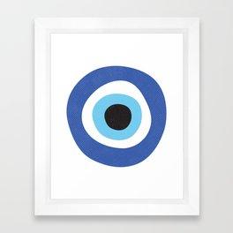Evil Eye Symbol Framed Art Print
