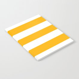 UCLA gold - solid color - white stripes pattern Notebook