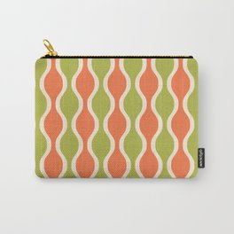 Classic Retro Ogee Pattern 852 Orange and Olive Carry-All Pouch