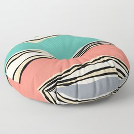 Modern irregular Stripes 10 Floor Pillow