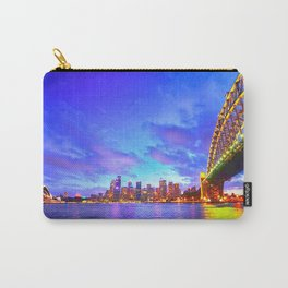 Famous Sydney City Harbour Bridge At Romantic Evening Red Opera House Australia Ultra HD Carry-All Pouch